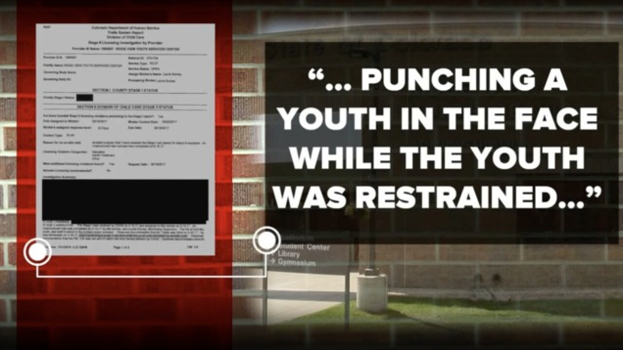 Safety concerns at Colo. youth detention centers
