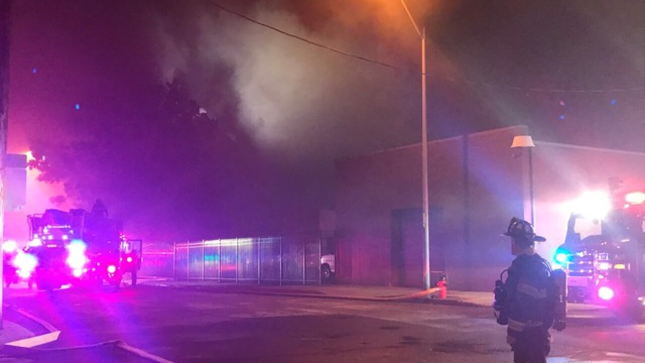 Crews battle two-alarm church fire