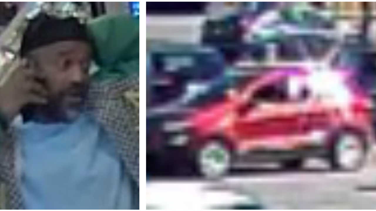 Surveillance photo shows man wanted for stealing credit cards from vehicle