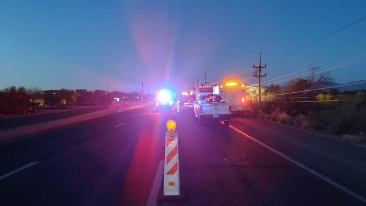 Oro Valley police investigated a hit-and-run that happened early Friday morning. Photo via OVPD.