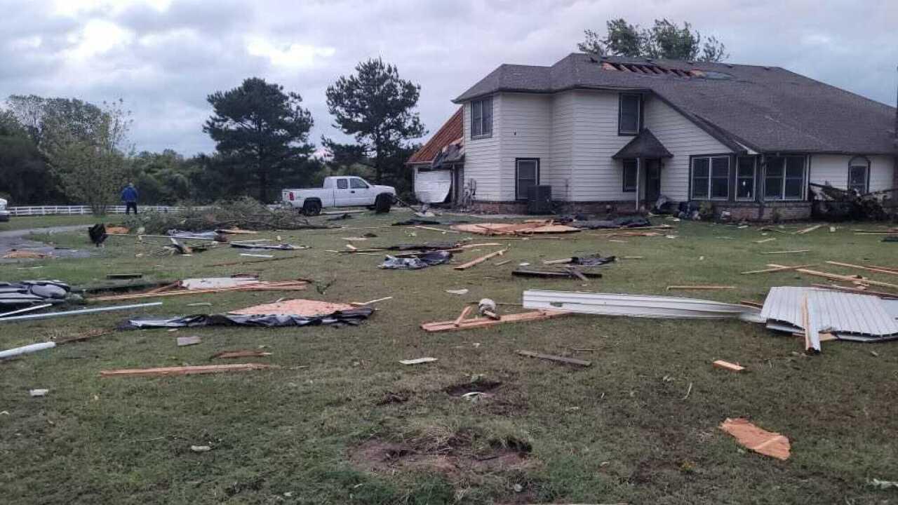 Severe storm damage in Coweta, Okla.