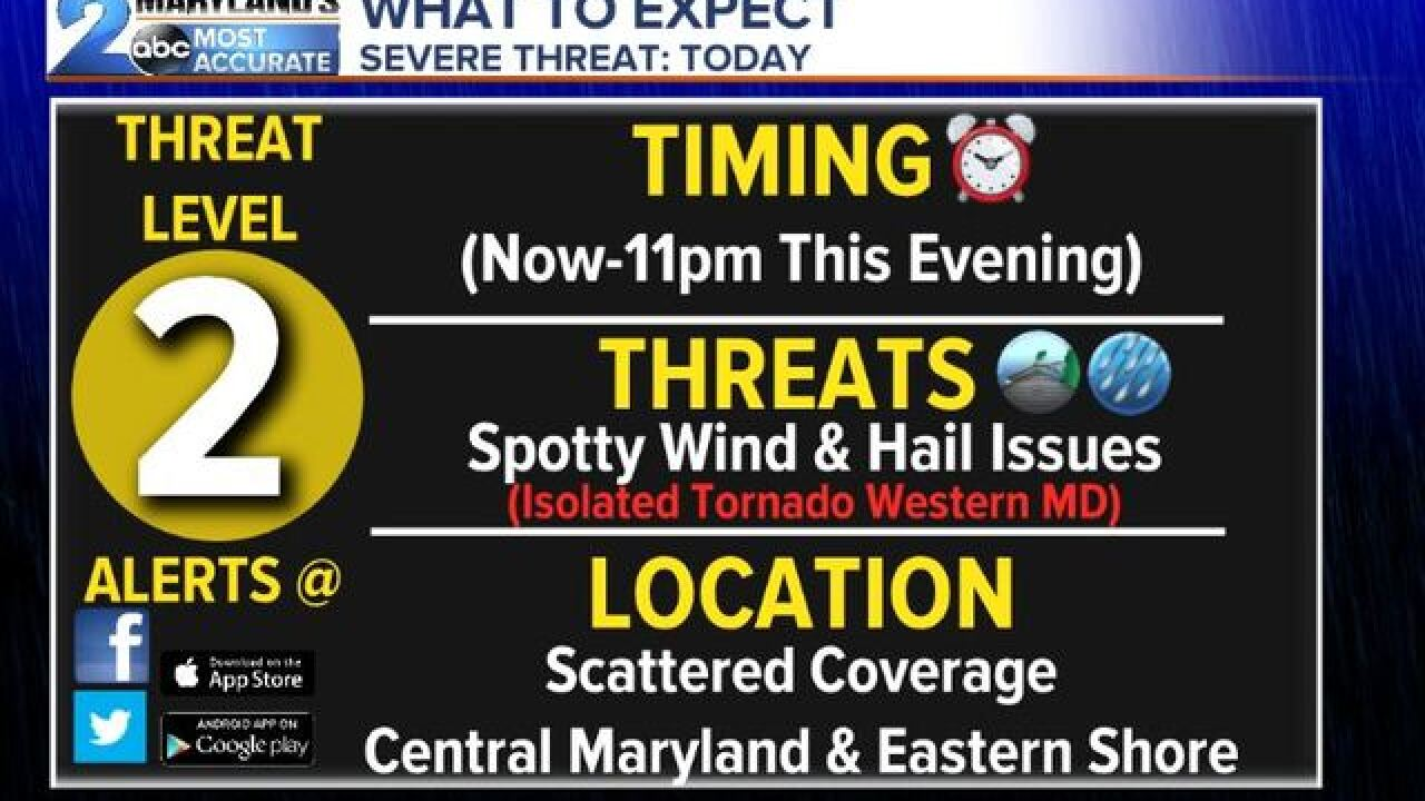 SEVERE T-STORM WATCH: Until 10pm