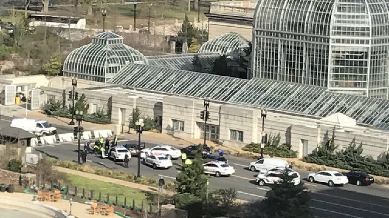 Woman tries to run over US Capitol police with car, investigators say