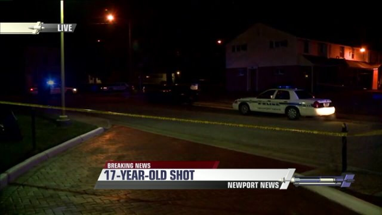 Teen fighting for life after being shot in NewportNews
