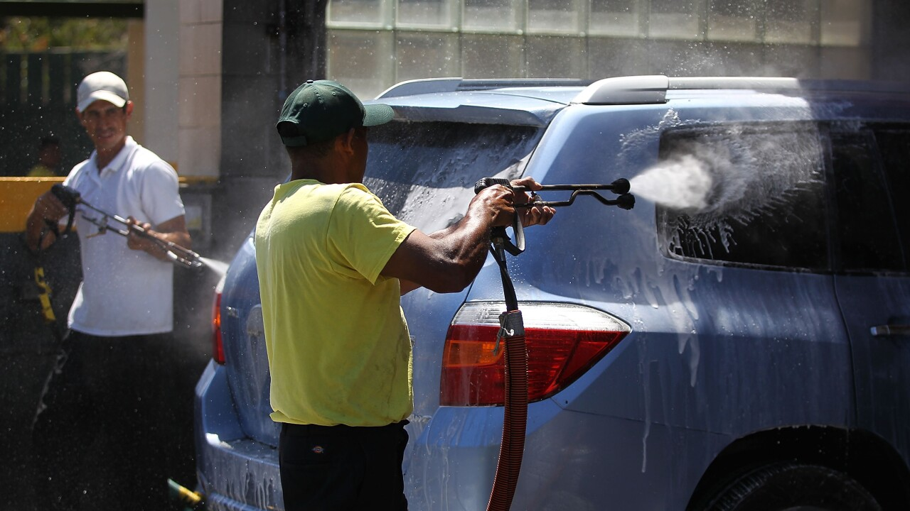 California County Urges Residents To Use Car Washes To Save Water