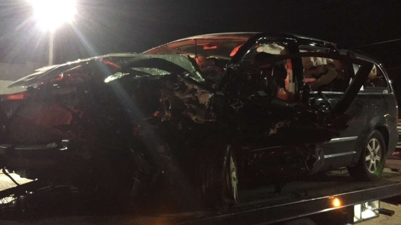One dead in two-vehicle crash in Hancock County