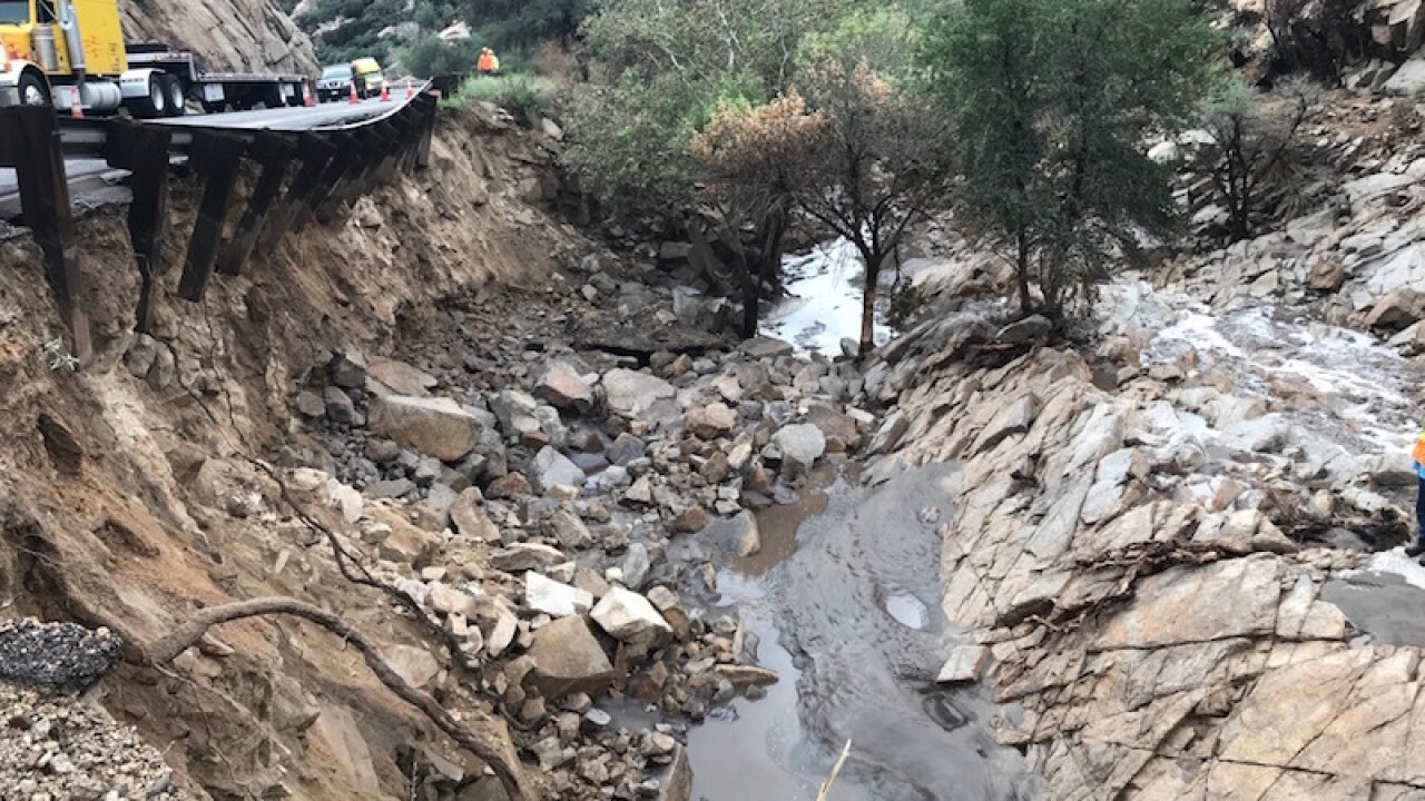 State officials say repairing storm damage to U.S. 60 in east-central Arizona will require an extended closure of a 17.5-mile stretch of the highway between Superior and Miami. AP photo.