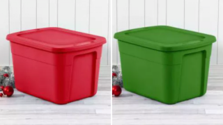 Holiday storage containers are on sale at Target starting at $2