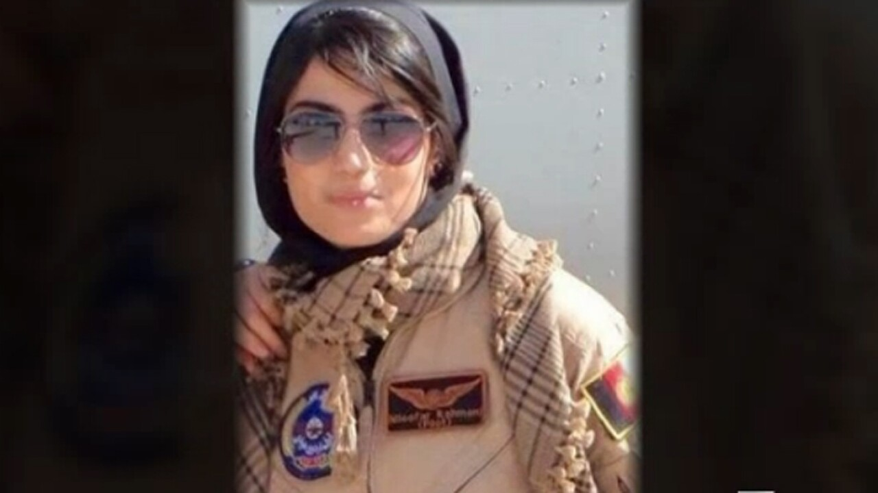 Afghan Air Force's first female fixed-wing pilot flies with the Blue Angels