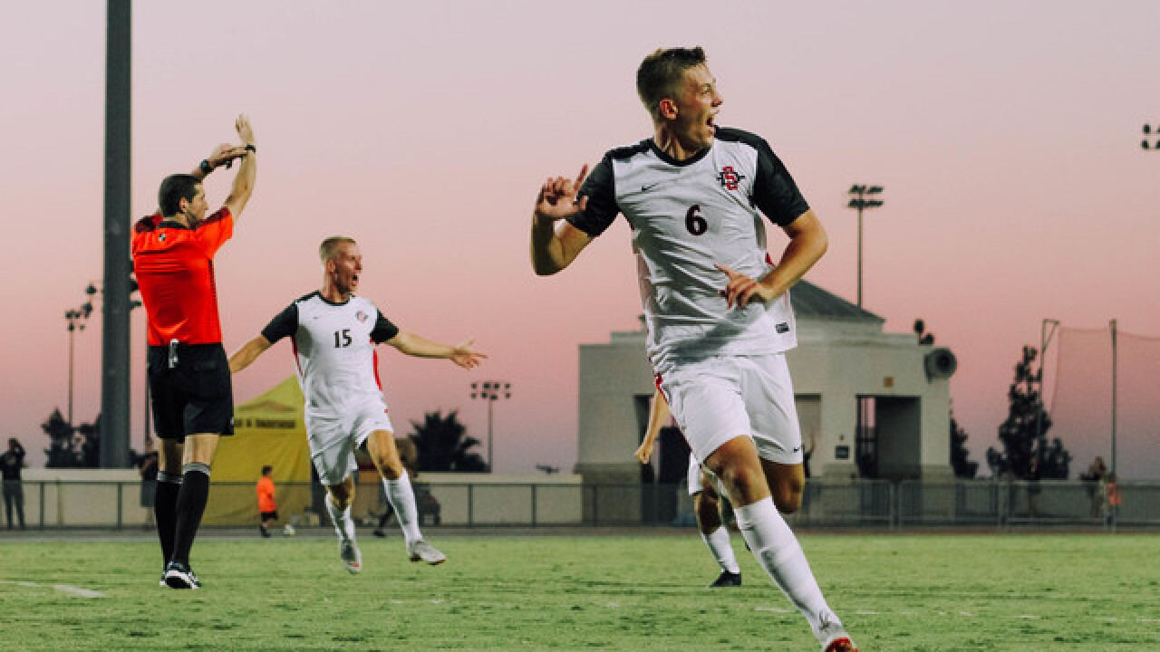 SDSU wins tournament with 2-1 overtime...