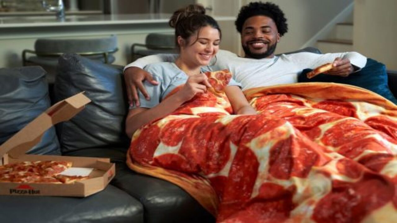 Pizza Hut Created A Weighted Blanket That Looks Just Like A Pepperoni Pizza