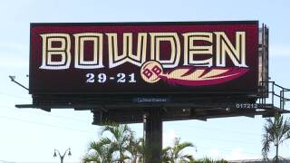 Bobby Bowden billboard in Port St. Lucie, Aug. 12, 2021