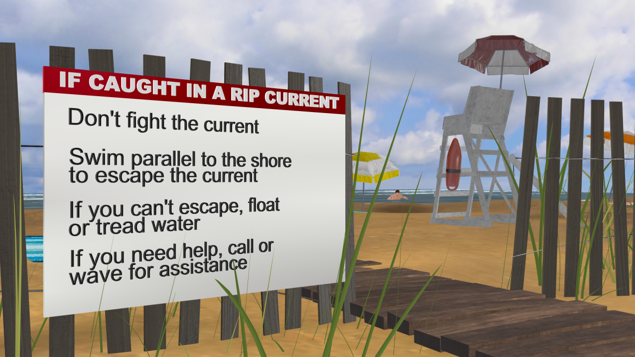 Tips to save your life if caught in a rip current.