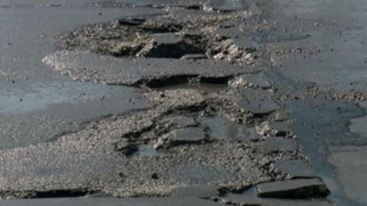omaha city pothole chuckhole street road
