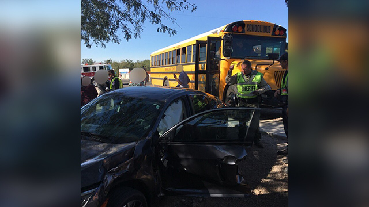 School bus collides with vehicle on northwest side