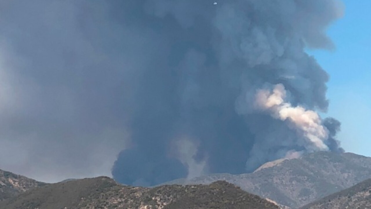 Brush fire spreading quickly in California