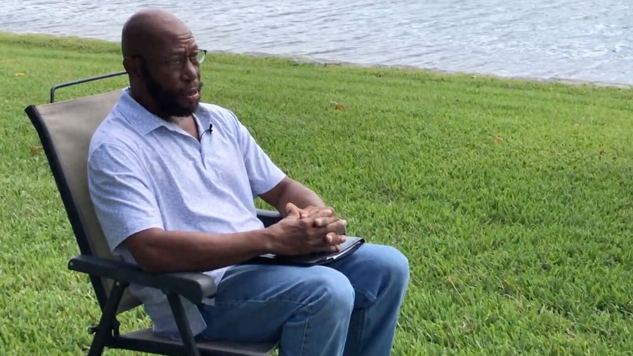 Delano Austin talks about his problems reaching the Florida Department of Economic Opportunity