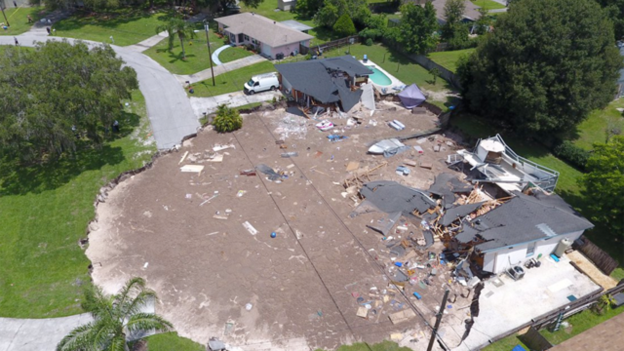 Geologists Study Massive Florida Sinkhole In Pasco County