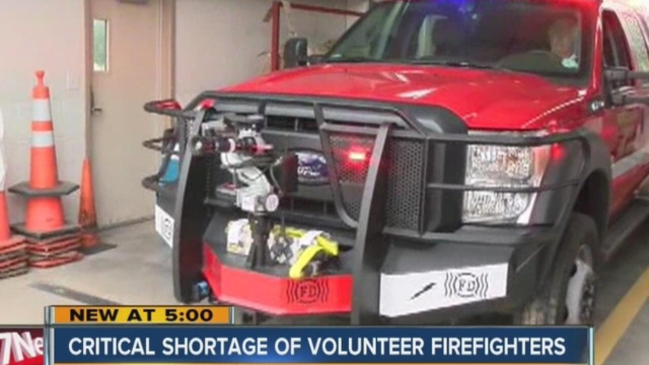 Fire departments struggle to retain volunteers