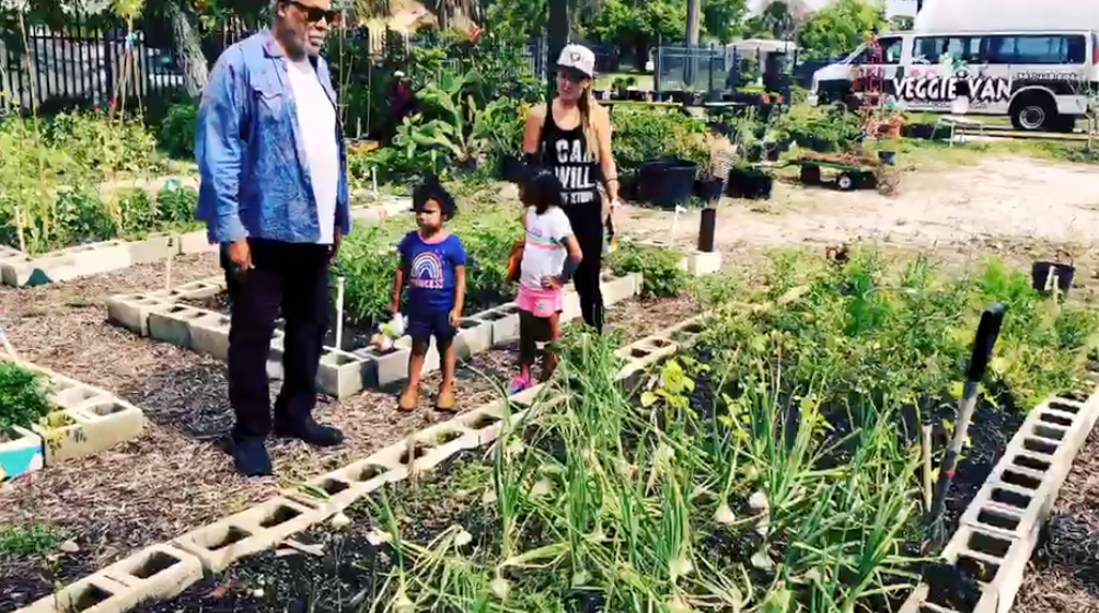 Stewart Bosley said since 2014, his mission is providing a community garden of fruits and vegetables.