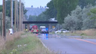 Authorities working to ID man killed in fiery crash between Billings and Laurel