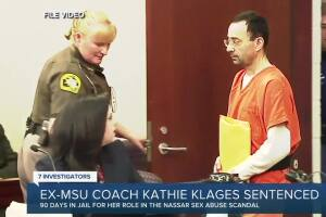 Ex-MSU coach Kathie Klages sentenced in connection to Nassar scandal