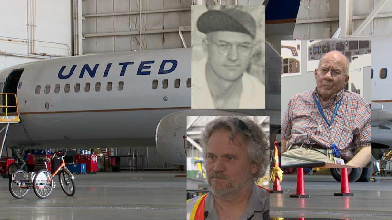 Jet fuel in their blood: Three generations of fathers, 105