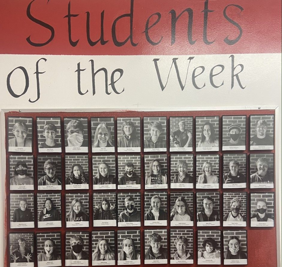 Fort Benton High School Student Of The Week Display