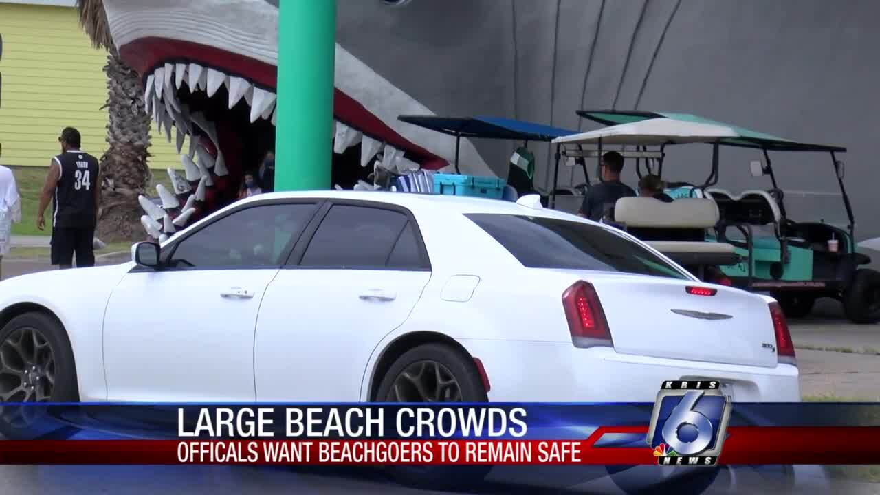 Many visitors checked out Port Aransas for Labor Day