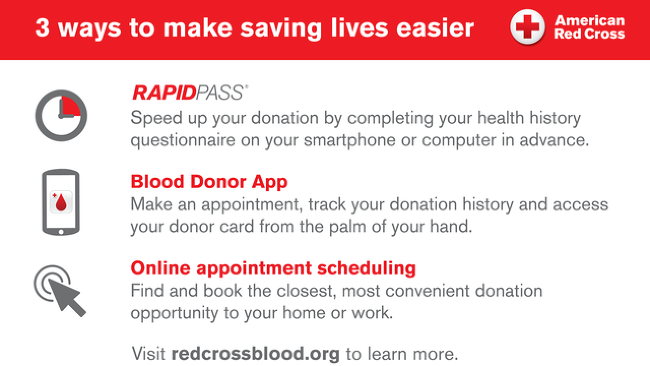 Donate at the Black Friday blood drive