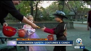 Halloween costume and candy safety
