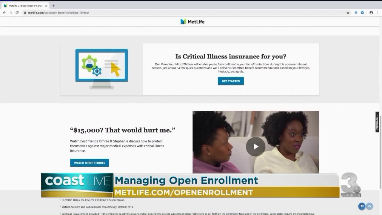Employee benefits and open enrollment advice on Coast Live