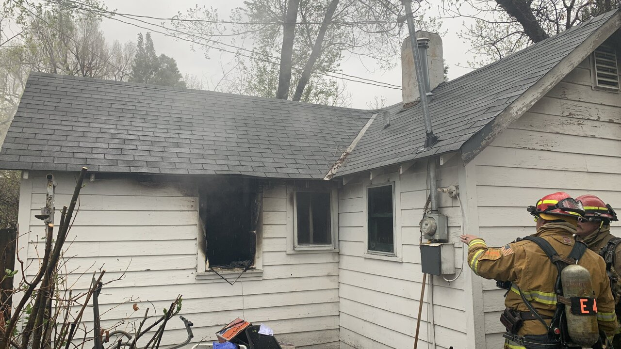 Deceased person found at site of structure fire on Cheyenne Blvd.