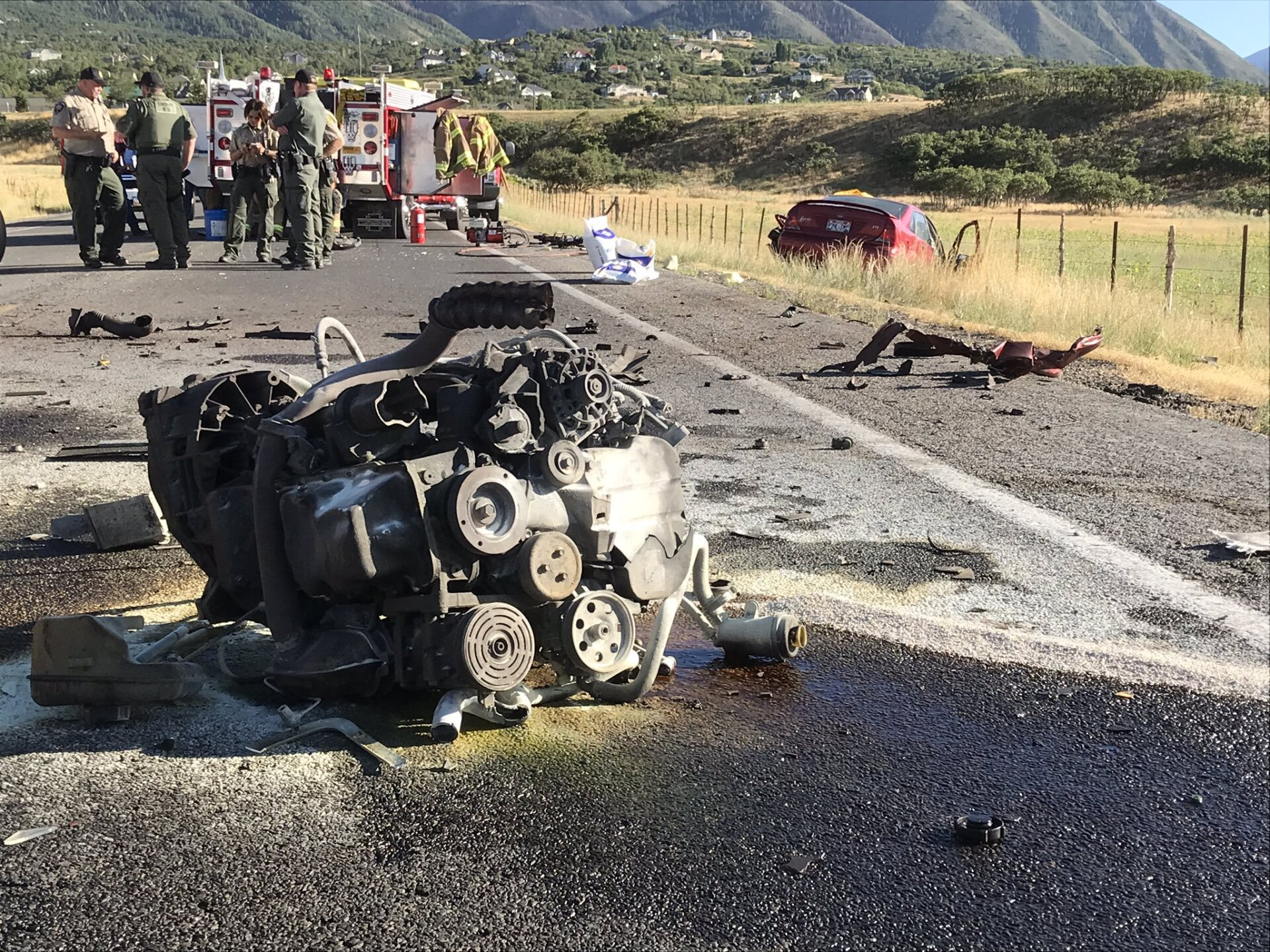 Photos: Provo man killed in head-on crash with tankertruck