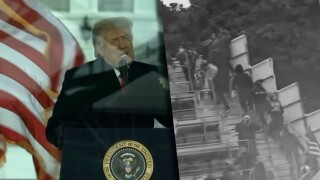 Save America Speech with Rioters WEB PIC