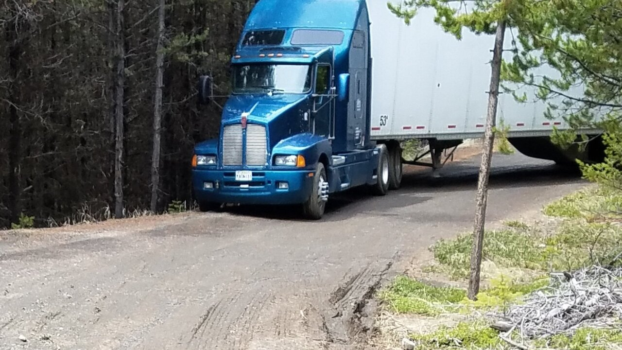 Trucker gets lost in the woods with truck full of chips, doesn't eat any