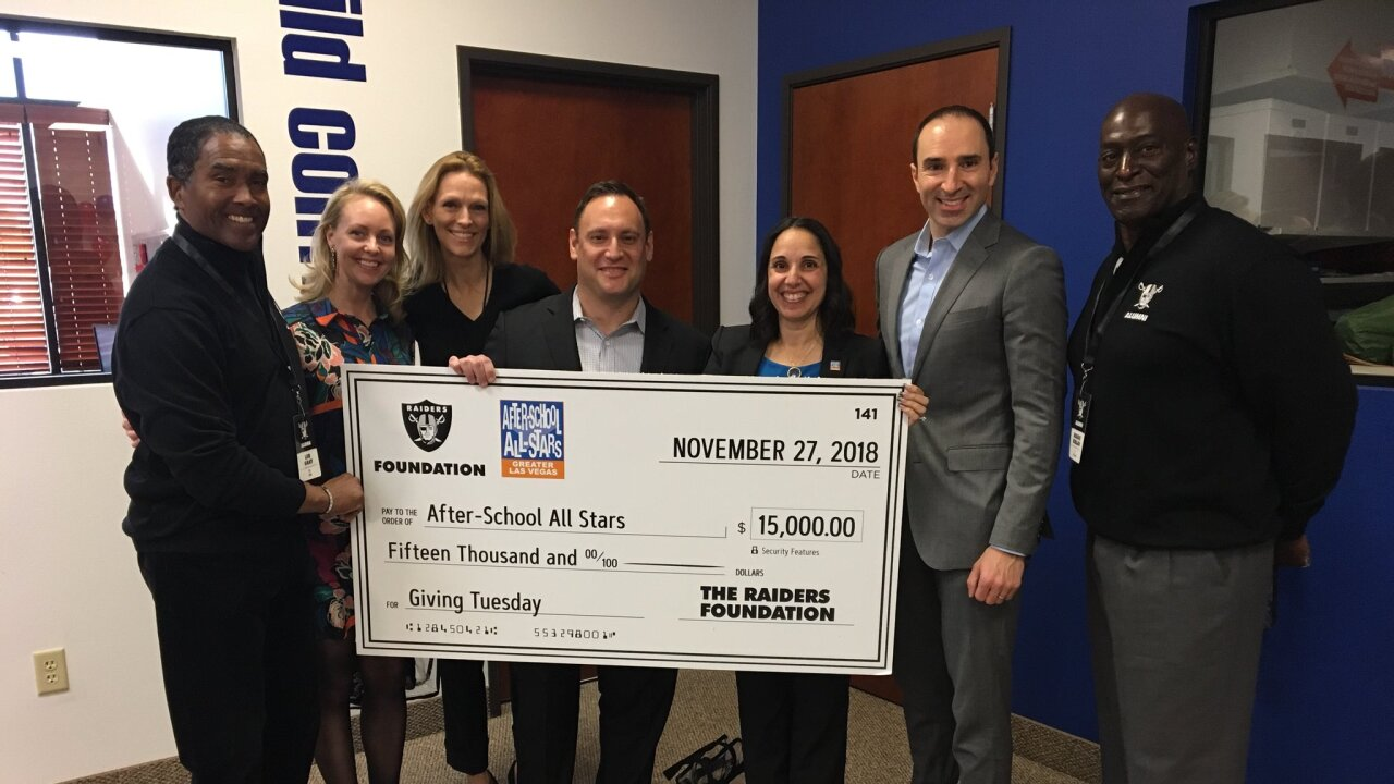 Raiders Foundation surprises After School All-Stars with $15,000 donation