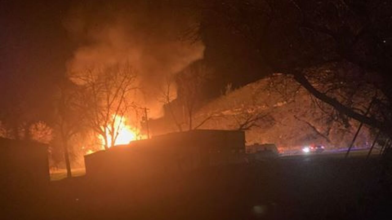 Wolf Bar in Sand Coulee destroyed by fire