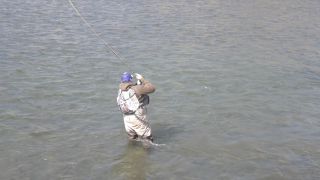 Fly Fishermen flock to rivers on a beautiful day