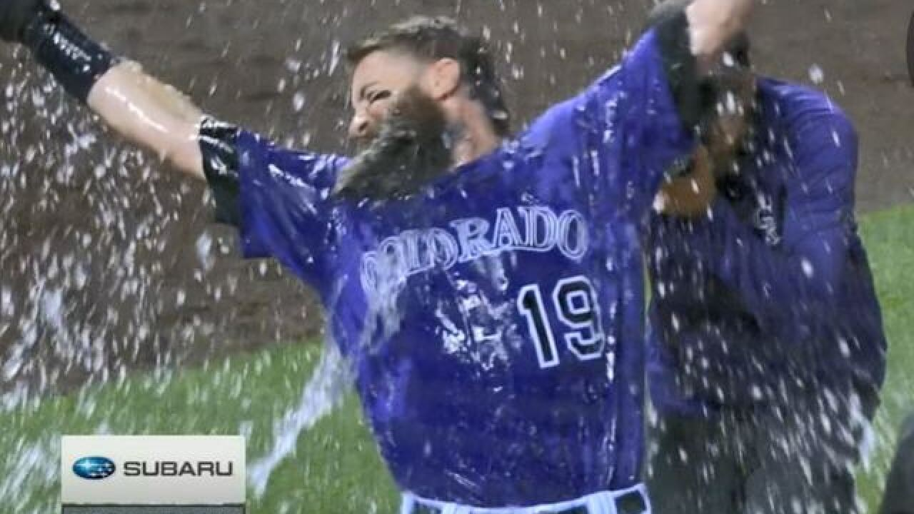 Rockies beat the Astros on Charlie Blackmon's walk-off home run in the bottom of the 9th inning