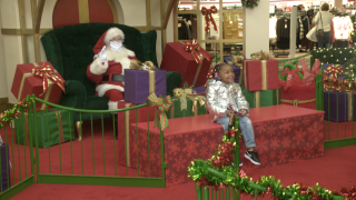 Posing with Santa looks different this year due to COVID-19