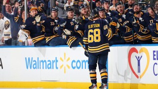Sabres rookie Olofsson ties NHL power-play goal record