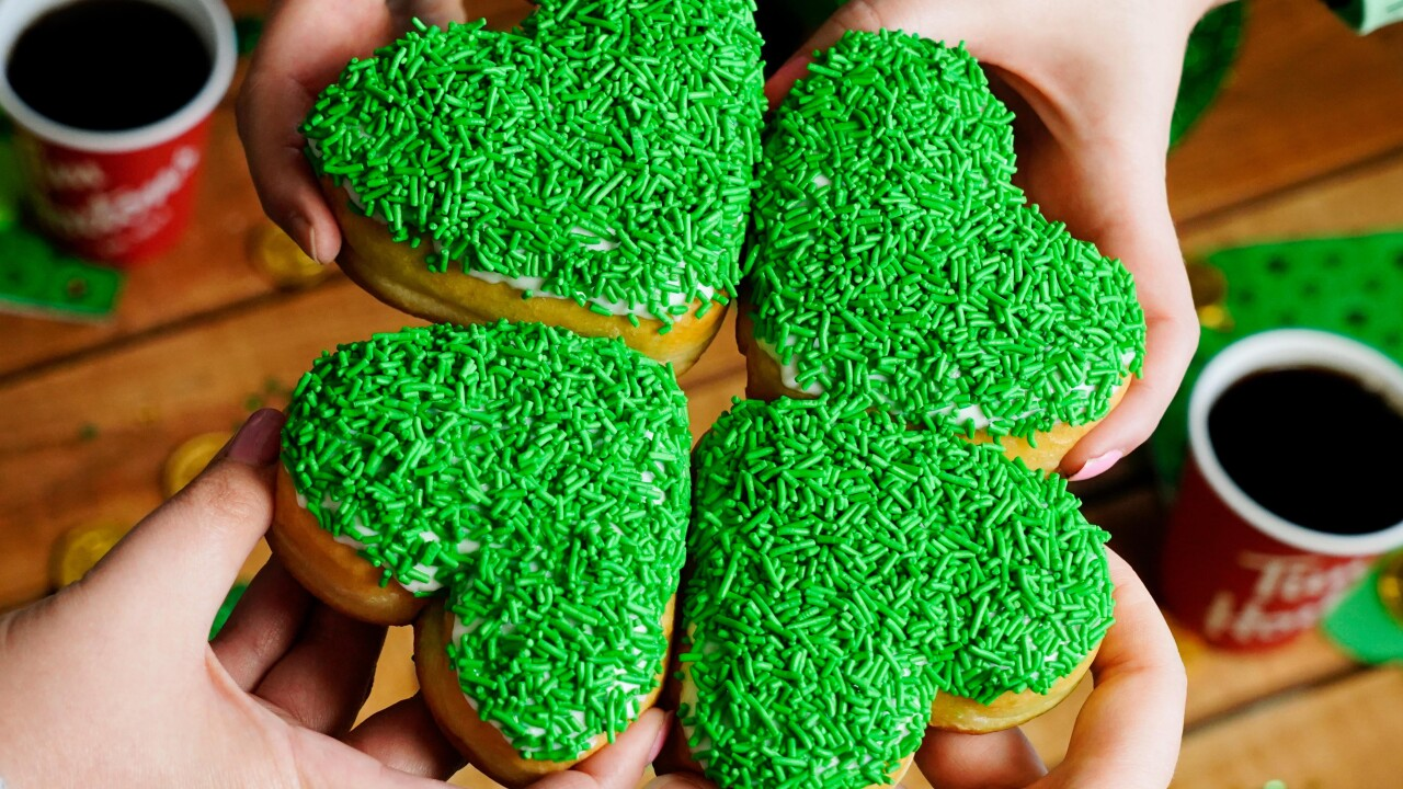 Tim Hortons unveils St. Patrick's Day donuts