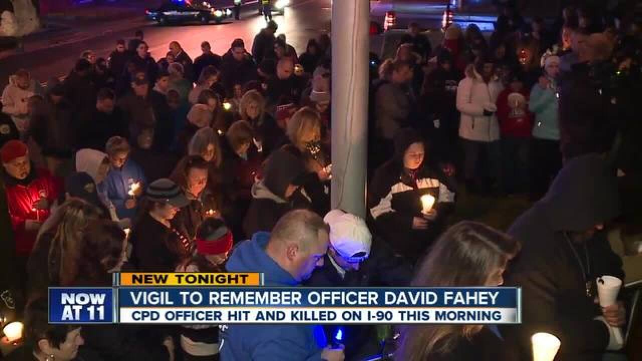 Condolences from the community to Officer Fahey