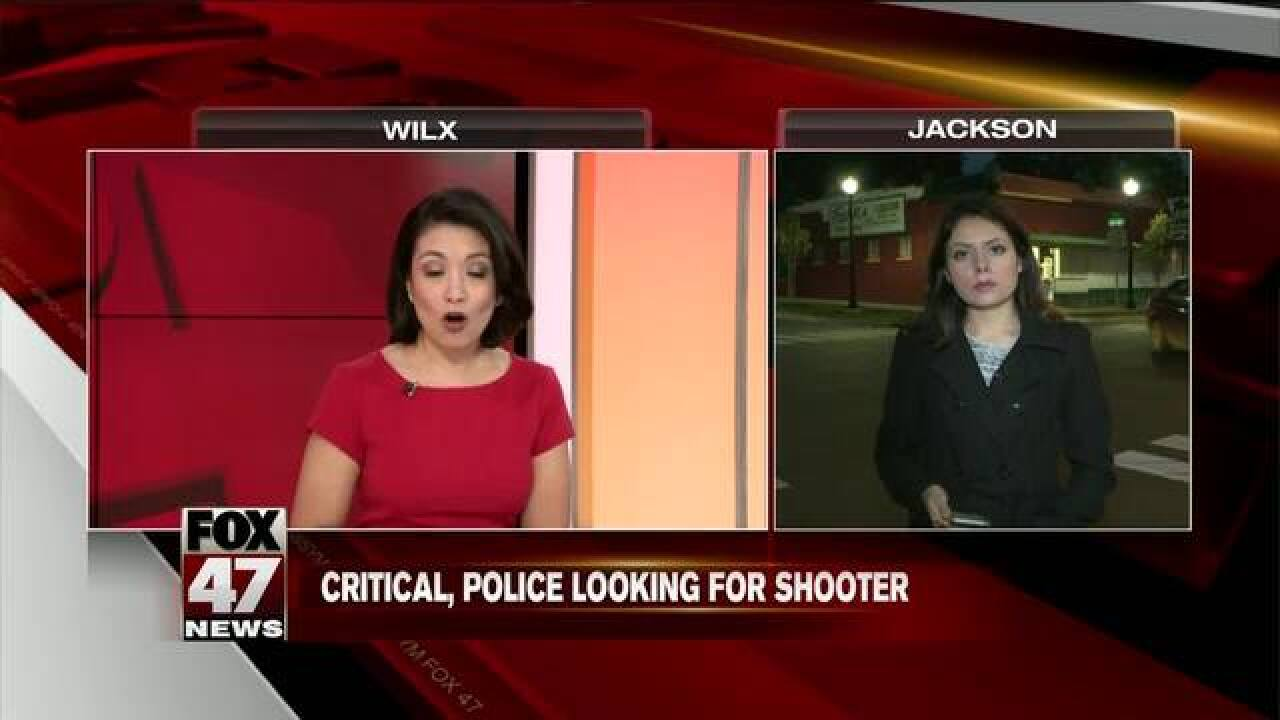 Man critical, police looking for shooter