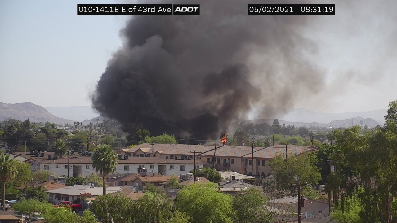 House fire near McDowell Road and 43rd Avenue
