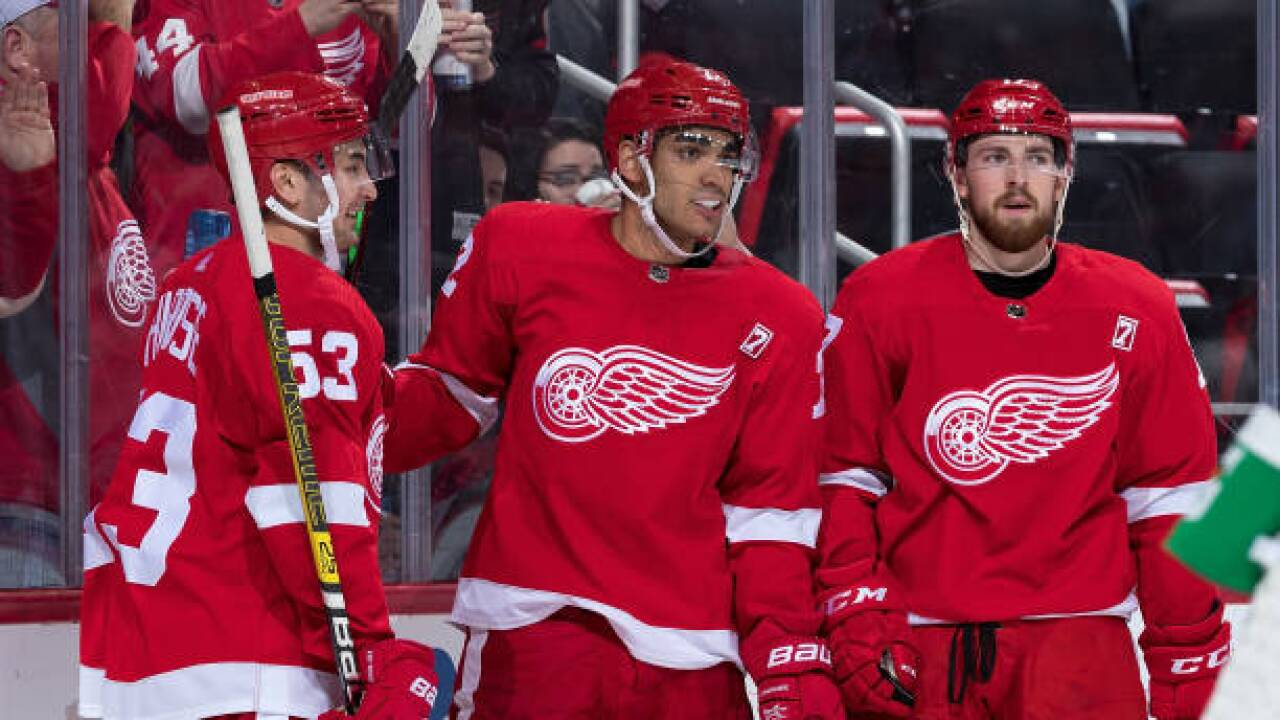pretty nice 48ad0 3d3c4 Andreas Athanasiou scores 30th of season as Red Wings blank ...