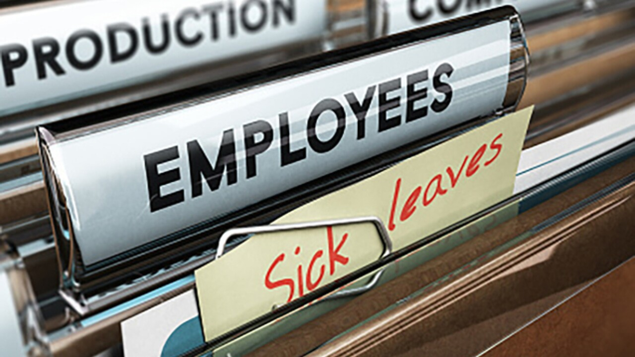 State offers support for paid sick leave at small businesses