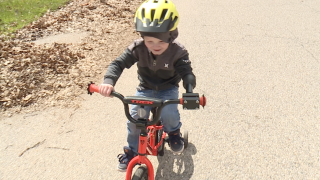 Kaysen gets a new bike