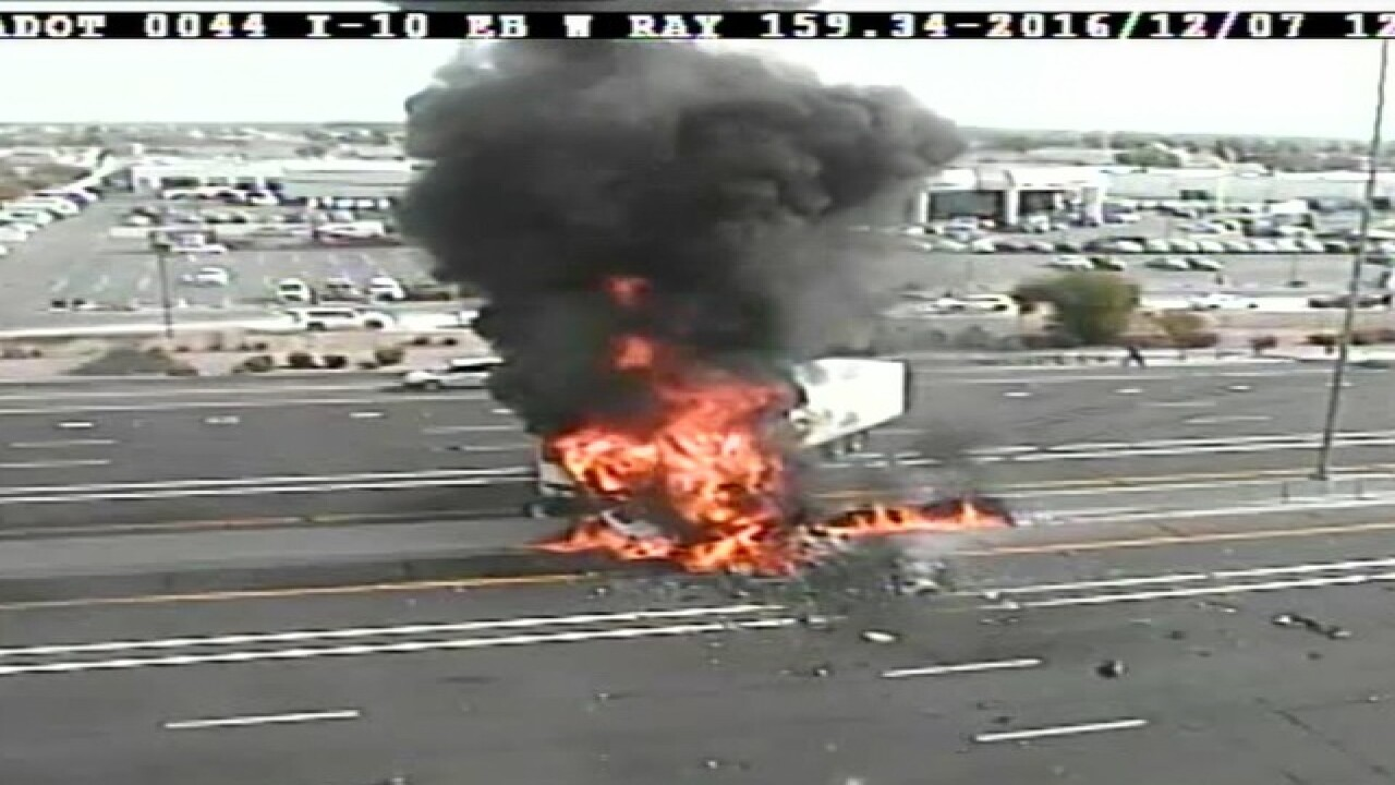 I-10 at Ray CLOSED due to semi-truck explosion